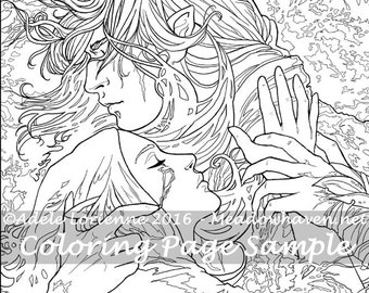 """Art of Meadowhaven Fantasy Coloring Page Download: """"Scars"""""""