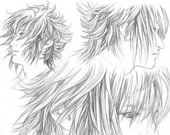 FFXV Noctis pencil Sketchpage art print #3