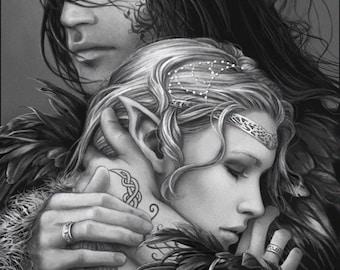 "Original fantasy art print: ""Beloved"""