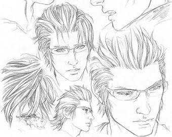 FFXV Ignis sketchpage art print #2