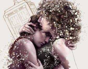 """Doctor Who art print: """"Among the Stars"""""""
