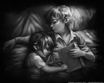 "FFXV Noctis Ignis art print: ""Dream of Stars"""
