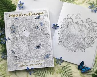 MeadowHaven Fantasy Art Coloring Book