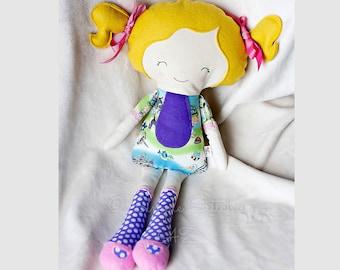 CUSTOM Miss Tippy Toes  Doll | Fabric doll | Soft Doll | Toys | Dolls | Custom Doll | Dolls And Daydreams Doll