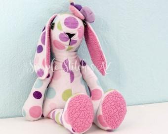 CUSTOM Floppy Stuffed Bunny | Stuffed Memory Bunny | Memory Bunny Rabbit | Custom Stuffed Bunny Rabbit | Crafty Kooka Bunny