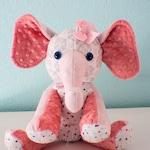 CUSTOM Stuffed Memory OR Regular Elephant | Multiple Sizes | Stuffed Elephant | Toys | Stuffed Animals | Memory Elephant