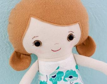 CUSTOM Miss Schoolgirl Doll | Fabric doll | Soft Doll | Toys | Dolls | Custom Doll | Dolls And Daydreams Doll