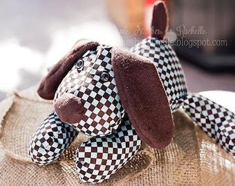 CUSTOM Pete the Puppy Stuffed Animal l Softie | Stuffed Puppy | Dog | Memory Animal | Stuffed Dog | Funky Friends Puppy