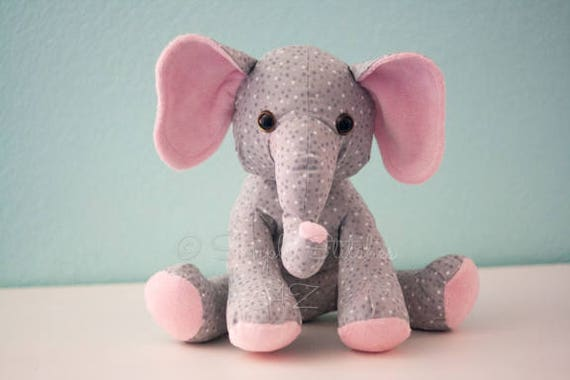 Custom Ellie The Elephant Stuffed Animal Multiple Sizes Etsy