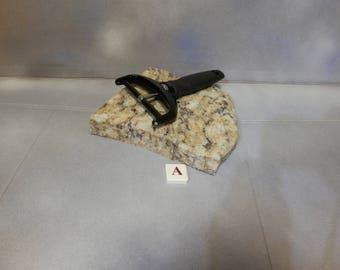Granite Cheese Board or Serving Platter -- irregular; Item A