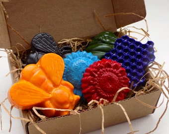 Stocking Stuffer, Kids Gift, CRAYONS, Eco Friendly, Bee SOY CRAYONS, Natural Toy, Kids Craft