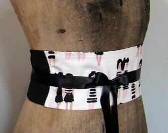 Black and white polka dots and BATHER OBI belt