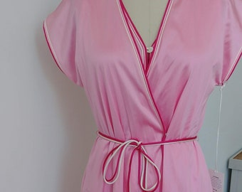 1970s robe nightgown set pink 63d51407f