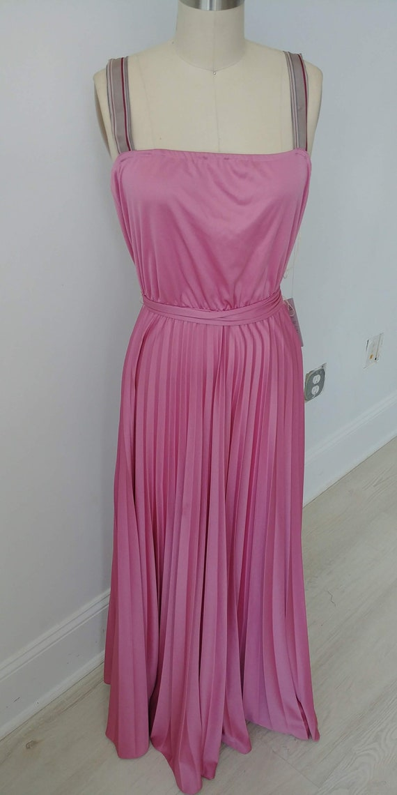 1970s Dusty Rose dress