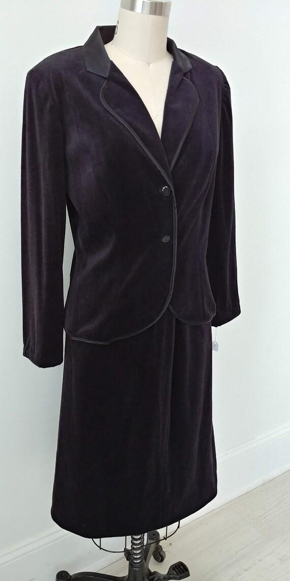 1980s black velvet suit