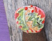 Christmas Holly Christmas Pin, Boughs of Holly, Funky Xmas, Holly, Upcycled Pin Recycled Bent Bottle Cap Holly Xmas Pin  shipping included