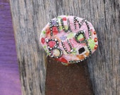 Christmas Pin, Scrooge Pin, Funky Xmas, Hum Bug Pin, Upcycled Pin Recycled Bent Bottle Cap Anti Xmas Pin  shipping included