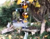 Sun catcher, Garden Chain, Mirror Mosaic Chain, Sparkle Mirror Chain, Garden Chain, Garden Gift, Mirror Sun Catcher Chain - Free Shipping