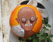 Gandhi Mahatma Gandhi Bottle Cap Eyes Gourd Art - shipping included