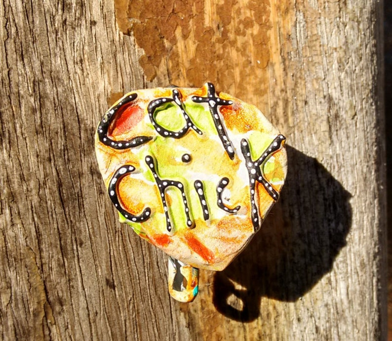Cat Chick I Love Cats Cat Chick Cat Pin Cat Jewelry image 0