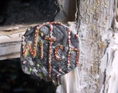Witch Pin, Witch Jewelry, Upcycled Jewelry, Recycled Bent Bottle Cap Witch Pin  shipping included