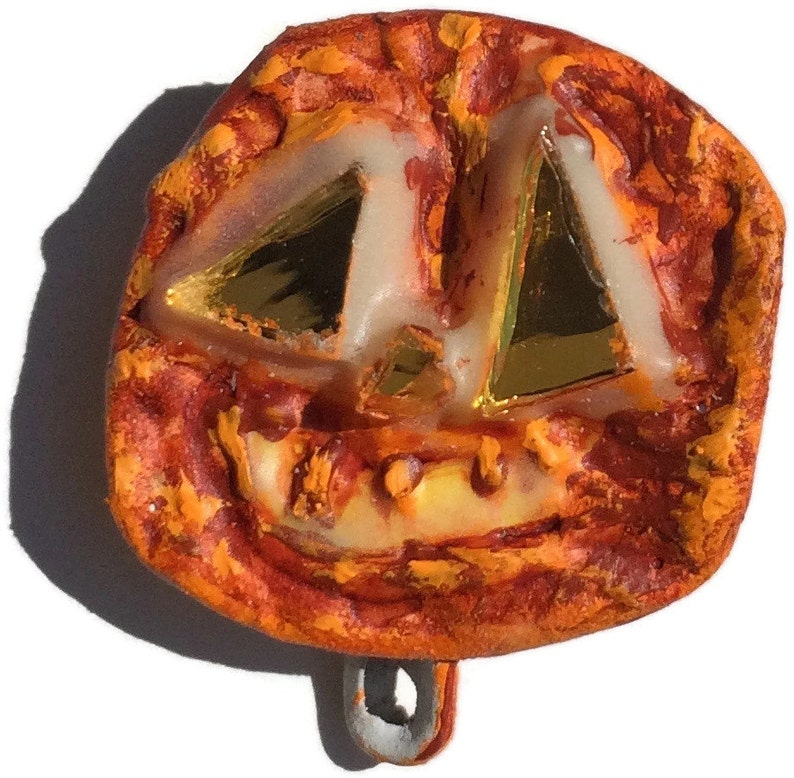 Jack-O-Lantern Pin Pumpkin Pin Crunchy Jack-O-Lantern image 0