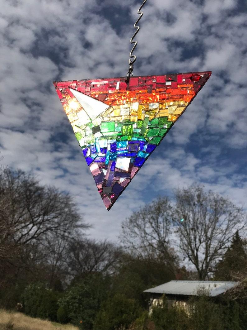 Rainbow Sun Catcher Pride Triangle Rainbow Triangle Rainbow image 0