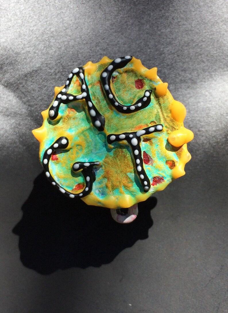 DNA Jewelry DNA Pin Biology Pin ACGT Pin Genetic Pin Geek image 0