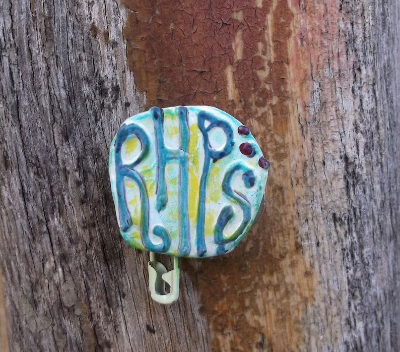 Rocky Horror Picture Show Pin RHPS Upcycled Pin Recycled image 0