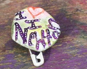 Isaac Newton, Sir Isaac Newton Pin, Newton, Nerd Pin, Upcycled Pin Back Button OOAK: I Love I Newton - frugal nerd gift - shipping included