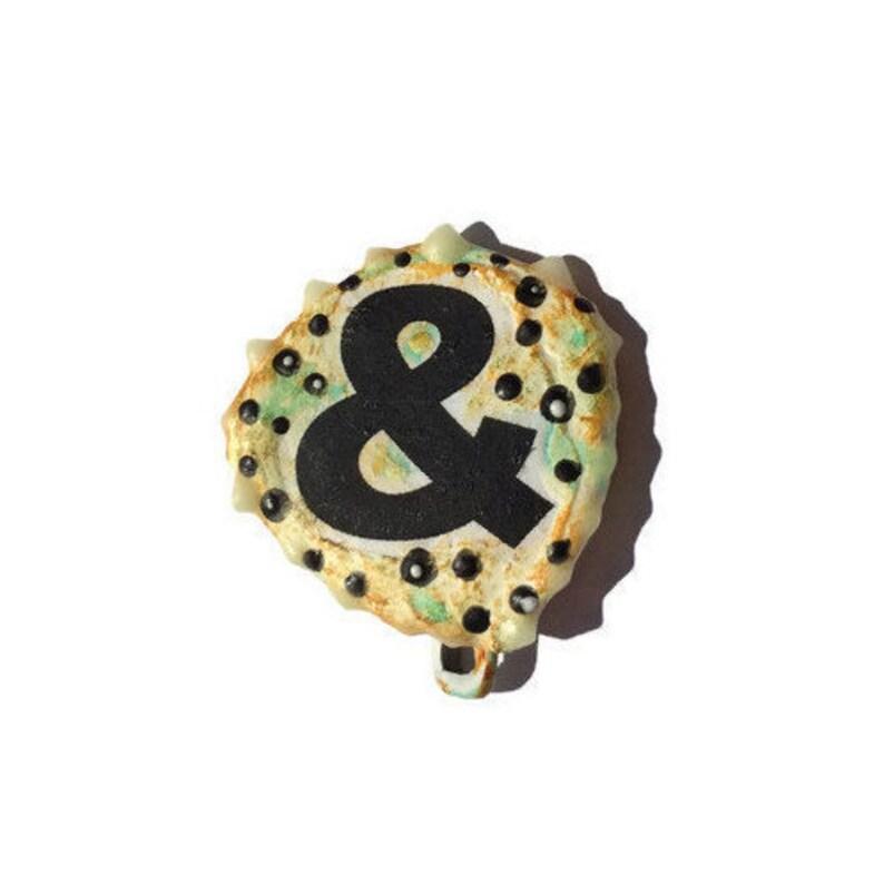 Ampersand pin Literary Pin Writing Pin & Pin Punctuation image 0