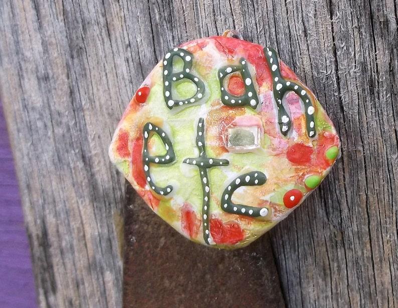 Bah Humbug Christmas Pin Scrooge Pin Funky Xmas image 0