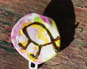 Evolution Walking Fish Upcycled Recycled Bottle Cap Pin OOAK: Evolution Darwin Fish - shipping included