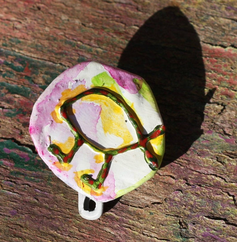 Evolution Walking Fish Upcycled Recycled Bottle Cap Pin OOAK: image 0