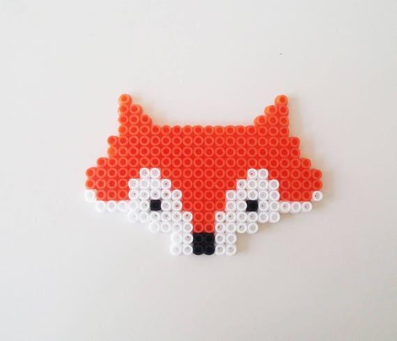 Pixel Art Renard Coaster Tribal Fox Coaster Cadeau Pour Lui Cadeau Pour Elle Automne Hiver Cadeau De Noël Fait à La Main