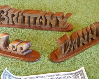 Personalized Scroll Saw artwork Names