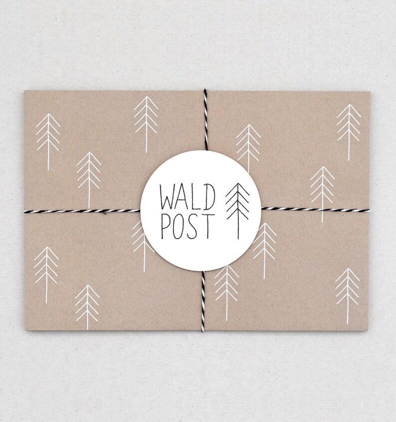 Briefumschlag Set Waldpost Natur