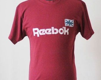 80's REEBOK SOFT VINTAGE T-Shirt Collectable Shirt