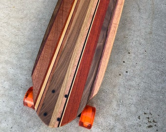 One-Off Wood Skateboard with a kicktail - Model - H