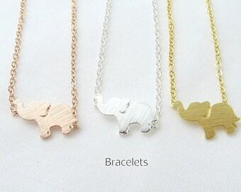 Baby Elephant Bracelet, Animal Bracelet, Minimalist Jewelry, Birthday Gift, Everyday Wear