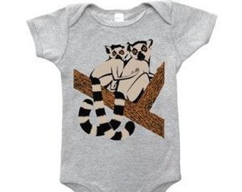Lemurs Baby Onesie