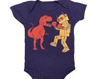 Dino vs Robot Onesie