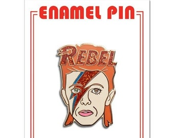 David Bowie Aladdin Sane Lightning Bolt Lapel Pin