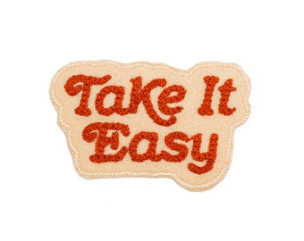 Take it Easy chain stitched patch Patch by Lucky Horse Press // back to school trend // boho hippie festival gypsy