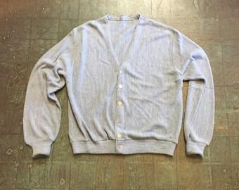 Vintage 50s 60s cardigan sweater // unisex retro dapper grunge prep golf grandpa mr Rogers