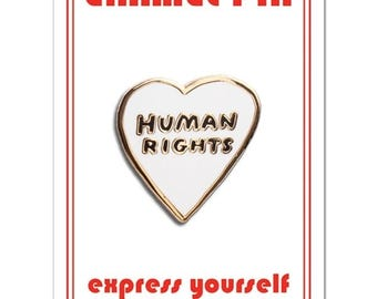 Human Rights Heart Enamel Lapel Pin by The Found