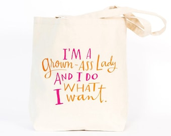 Grown Ass Woman Tote Bag by Emily McDowell