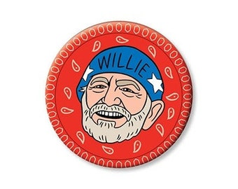 Willie Nelson Magnet // made in the USA // stocking stuffer // gift under 10
