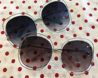 Retro style Oversized sunglasses // hippie festival boho grunge trend // summer sunnies