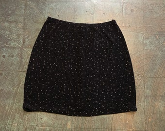Vintage 90s LA BELLE moon & stars slinky skirt // small medium // boho hippie goth grunge witchy